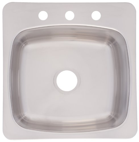 FrankeUSA SL103BX Single Bowl Stainless Steel 20 1/8x20 9/16in. Topmount Sink