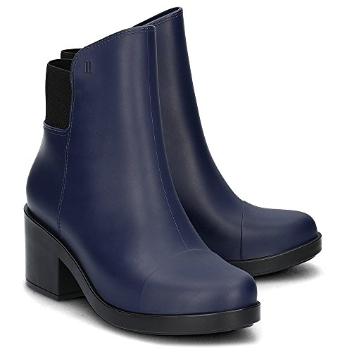 Melissa Womens Elastic Boot Ankle Bootie Blue/Black Size 7 (Rain Boots Melissa compare prices)