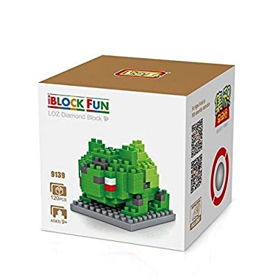 Trueland LOZ Minecraft Style Diamond Blocks Nanoblock Toy Set Pokemon Bulbasaur from LOZ