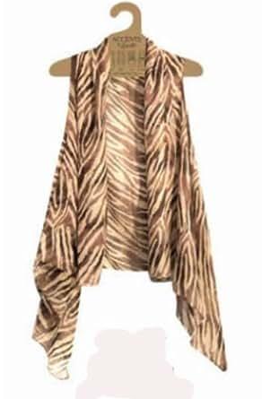 Accents by Lavello Sheer Designer Vest, Brown / Beige