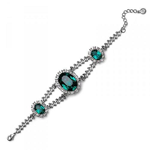Armband Deluxe rhod. emerald