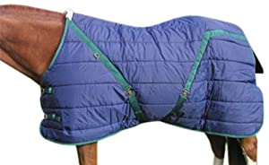 High Spirit Snuggie Pony Stable Blanket, 62-Inch, Blue/Hunter Green