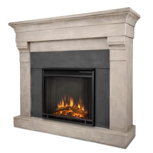 Torrence Cast Cinder Stone Electric Firebox & Mantel