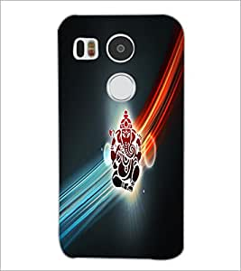 PrintDhaba Lord Ganesha D-2982 Back Case Cover for LG NEXUS 5X (Multi-Coloured)