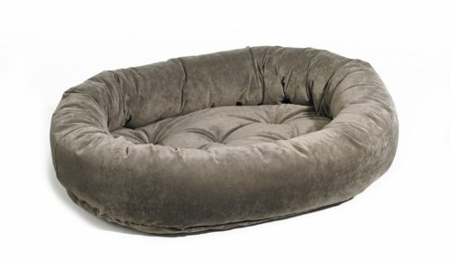 Bowsers Pet Products 8418 Extra Small Microvelvet Donut Dog Bed - Thunder