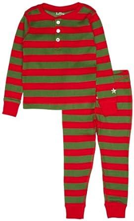 Hatley Little Boys' Pajama Set-Holiday Stripe, Multi Color, 2T