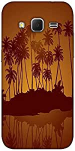 Snoogg Tropical Night Vector Background Designer Protective Back Case Cover F...