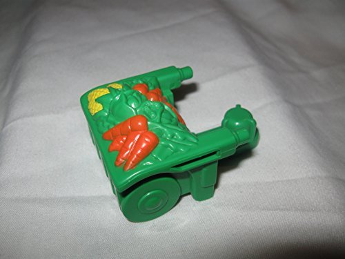 Fisher Price Little People Barn Stable Mini Farm Play Set Replacement Food Crops Green Wheel Barrow Piece OOP - 1