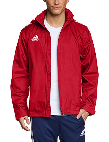 adidas Herren Regenjacke Core Eleven Rain Jacket, University Red/White, 5, V39445