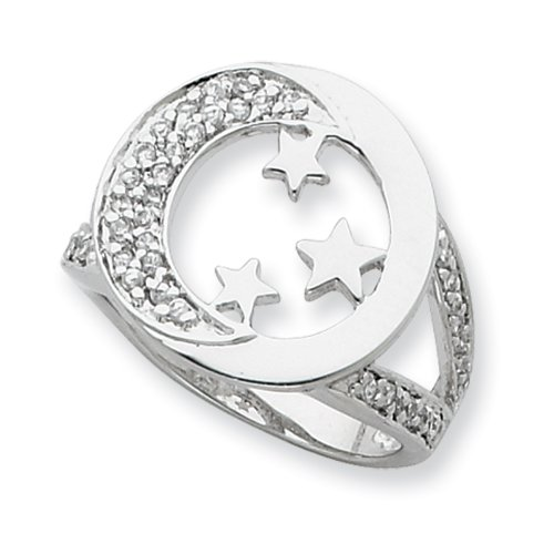 Size 8-Sterling Silver I Promise You the Moon and Stars Sentimental Expressions Ring