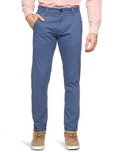 Bellfield MTRS-11178BB Slim Men's Trousers Brilliant Blue W32 INxL32 IN