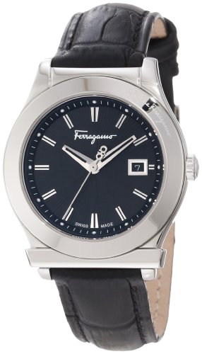 Ferragamo Women's F63SBQ9909 S009 1898 Stainless-Steel Leather Watch
