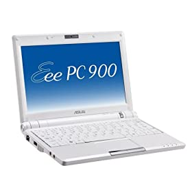 ASUS Eee PC 900 20G (8.9 Inch Display, 900 MHz Intel Mobile CPU, 1 GB RAM, 20 GB Solid State Drive, Linux, 4 Cell Battery) Pearl White