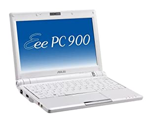 ASUS Eee PC 900 8.9-Inch Netbook (Intel Mobile Processor, 1 GB RAM, 20 GB Solid State Drive, Linux, 4 Cell Battery) Pearl White