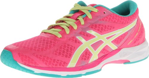 ASICS Women's Gel-DS Racer 10 Running Shoe,Hot Pink/Sunny Lime/Emerald,9.5 M US