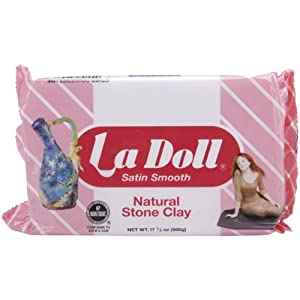 Activa La Doll Natural Stone Clay, 1.1-Pound, Satin Smooth