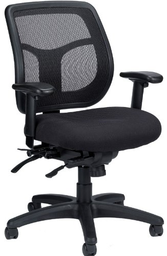 Eurotech Apollo Multi-Function Mesh Back, Fabric Seat Office Chair with Sliding Seat