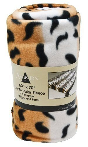 "Leopard Print Comfy Polar Fleece Throw Blanket 60"" X 70"" - Bigger Better Softe front-954340"