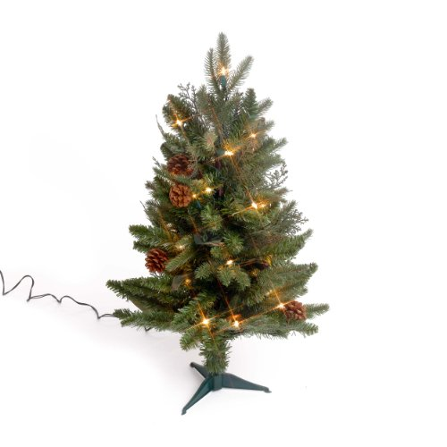 GKI Bethlehem Lighting 2 Foot Green River Spruce Christmas Tree Pre Lit With