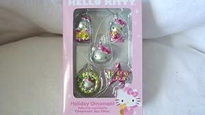 Hello Kitty Set of 5 Miniature Holiday Christmas Ornaments
