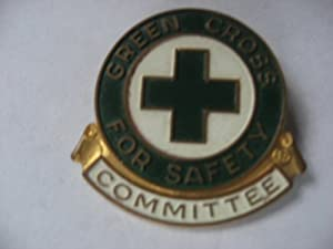 Green Cross for Safety Committee Pin