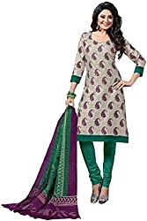 Balaji Womens Cotton Unstitched Dress Material(5109+Green+Free Size)