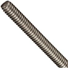 Fully Threaded Stud, 303 Stainless Steel, Uncoated (Bright) Finish, Inch, Right Hand