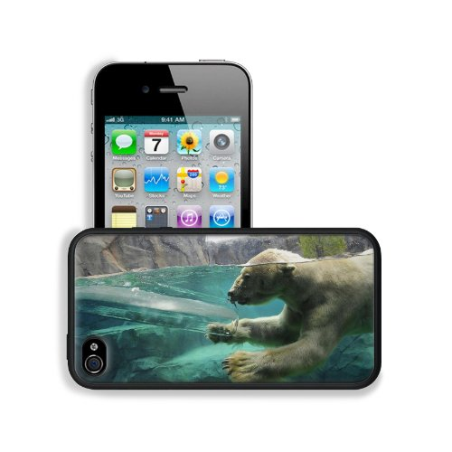 Polar Bear Underwater Swim Baby Apple Iphone 4 / 4S Snap Cover Premium Leather Design Back Plate Case Customized Made To Order Support Ready 4 7/16 Inch (112Mm) X 2 3/8 Inch (60Mm) X 7/16 Inch (11Mm) Liil Iphone_4 4S Professional Cases Touch Accessories G front-739050