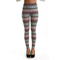 VIV Collection Women's Tribal Spring High Quality Leggings
