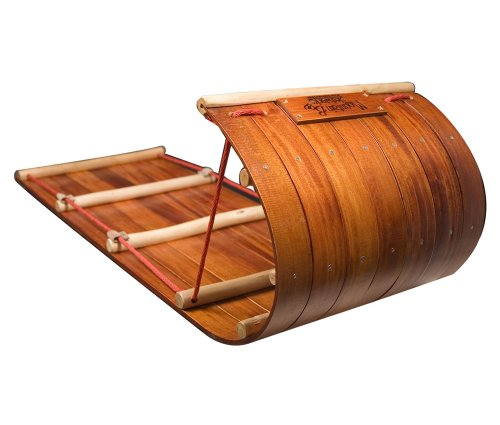 Mountain Boy Sledworks 4-Ft. Wood Toboggan - 48in.L x 18in.W x 16in.H, Model# MB4-0610-11