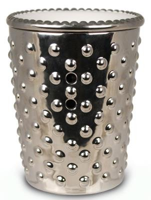 SILVER HOBNAIL FRAGRANCE WARMER - WAX MELTER by Boulevard (Wax Lit compare prices)