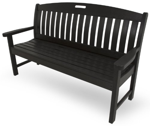 POLYWOOD NB60BL Nautical 60″ Bench, Black
