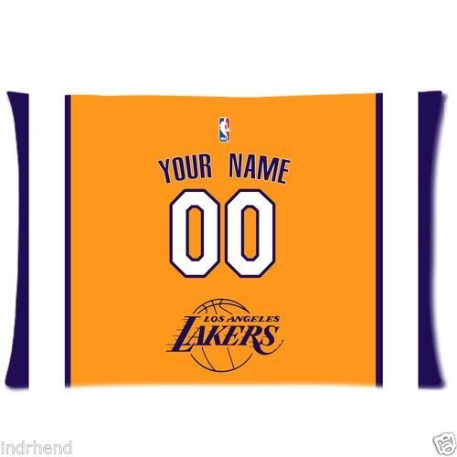 New Custom Los Angeles Lakers BasketBall Pillow Case With Your Name N Numbers (Lakers Cheerleading Outfit)