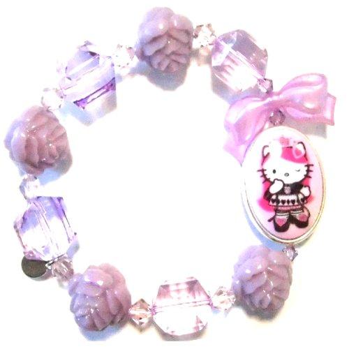 TARINA TARANTINO (タリナタランティーノ) キティコラボ HEAD PORTRAIT MULTIBEAD PINK Hello Kitty bracelet pink color