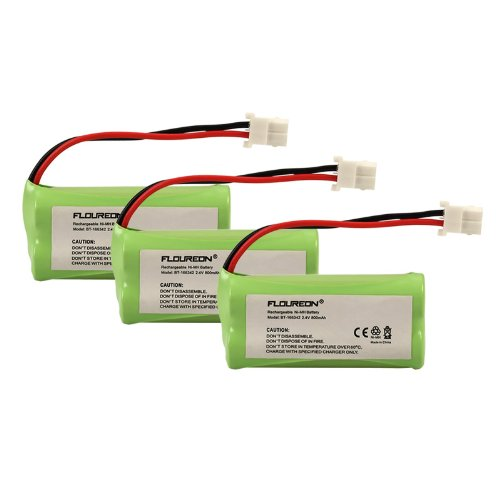 Floureon 3 Packs 2.4V 800Mah Rechargeable Cordless Phone Telephone Batteries For Vtech Cs6429, Cs6429-2, Cs64292, Cs6429-3, Cs64293, Cs6429-4, Cs64294, Cs6429-5, Cs64295, Cs6449, Cs6449-2