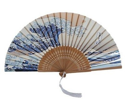 DawningView Japanese Handheld Folding Fan, with Traditional Japanese Ukiyo-e Art Prints (Great Wave Off Kanagawa) (Fan Folding compare prices)
