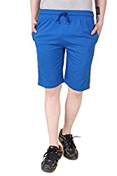 Aventura Outfitters Single Jersey Shorts Royal Blue with Orange & White Stripes - L (AOSJSH304-L)