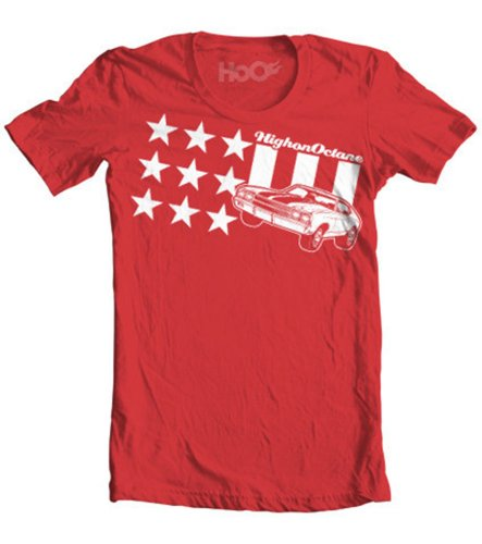 HoO Men's All American Chevelle Stars and Stripes Muscle Car T-Shirt