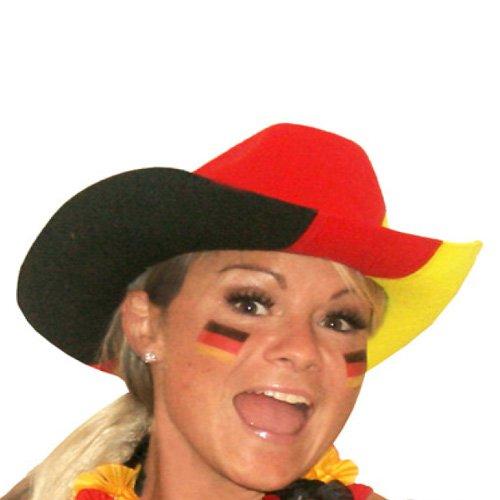 Cowboyhut Deutschland Cowboy-Hut Fußball Fanhut Fanartikel Cowgirl Hut Germany
