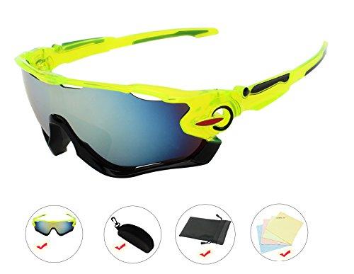 AikeSweet-deporte-de-los-hombres-de-ciclo-al-aire-libre-de-los-vidrios-de-los-vidrios-UV400-de-las-gafas-de-sol-Marco-verde-Oro-Lente