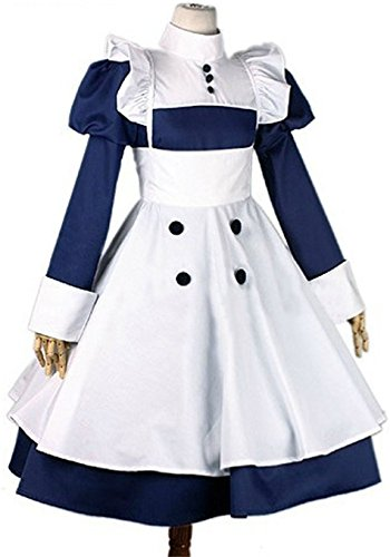 Vicwin-One Black Butler Mey-rin Maid Uniform Outfits Dress Costume-made