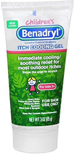 Benadryl Children's Itch Cooling Gel 3 oz (Pack of 3)