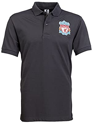Official Liverpool FC Grey Polo with Crest