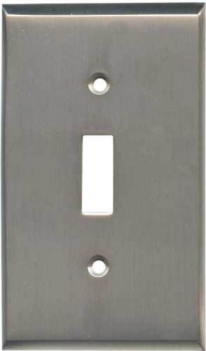 SATIN NICKEL Switchplates Outlet Covers, Rocker, GFCI 1 Toggle