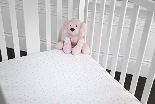 GUND Babygund Starry Night Jersey Crib Sheet, Starry Night - Popsicle Pink, 28'' By 52''