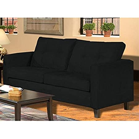 Chelsea 5900-S-BBK Heather Sofa - Bulldozer Black