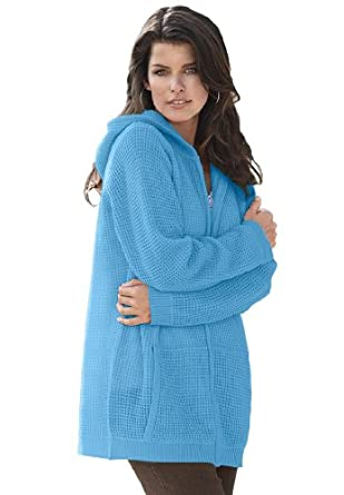 410LjV5UTZL. SY445  Roamans Plus Size Fabulous Thermal Hoodie