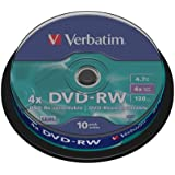 Verbatim 43552 4x DVD-RW - Spindle 10 Pack
