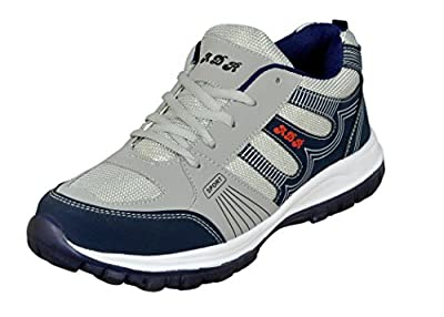 Jollify Mens Grey and blue sport shoes