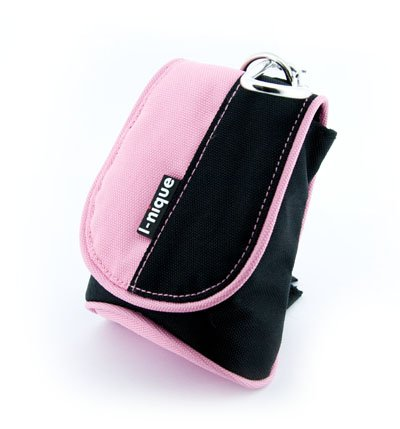 i-nique - Digital Camera case - Petite Dudette Bag! - (Pretty pink) for Sony Cyber-shot (DSC-T1 T3 T30 T50 T33 T5 T7 T9 T10 T100 T200 T20 / DSC-W50 W35 W30 W70 W55 W85 W90 / DSC-N1 N2)